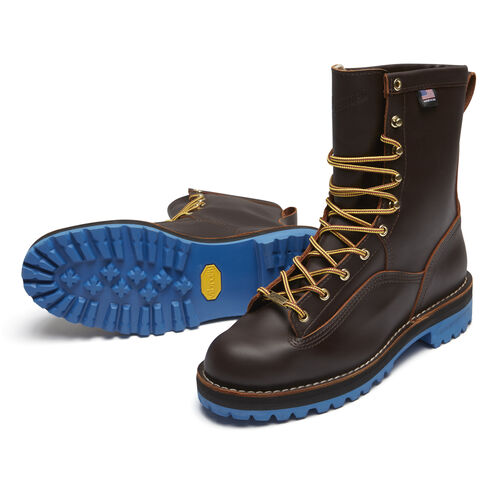 "Men's Danner Rain Forest 8"" Boot w/ Blue Sole"