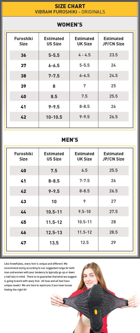 Furoshiki Size Chart